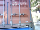 Shipping container sealed